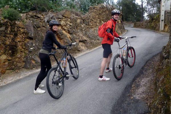 Mit dem Mountainbike direkt ab dem Haus