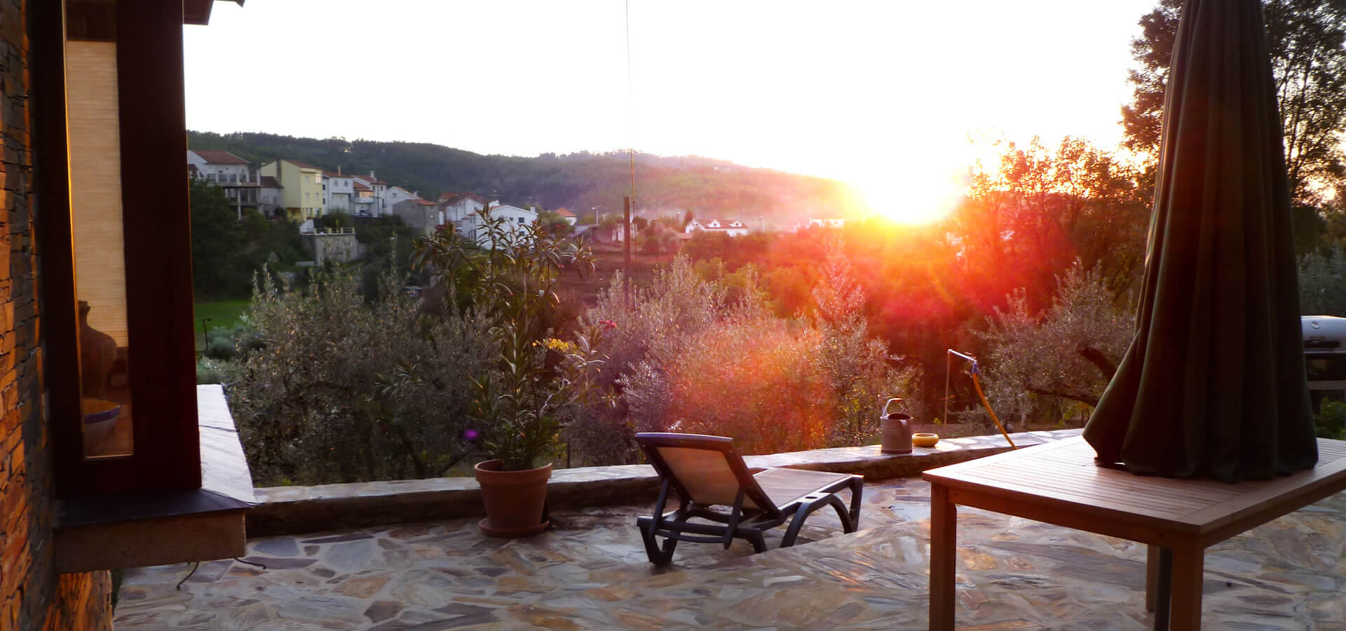 Sonnenuntergang auf der Sonnenterrasse
