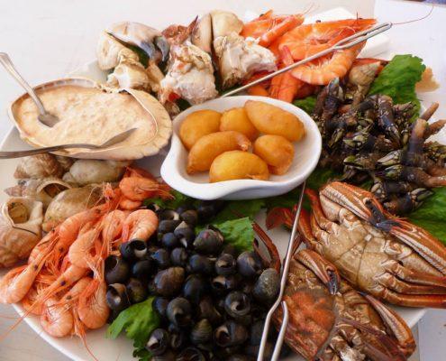Meeresfrüchte von der Küste